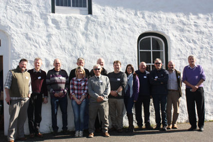 The presenters at the NI RSG conference had a few moments to enjoy the spring sunshine before getting down to discussing raptor science and conservation