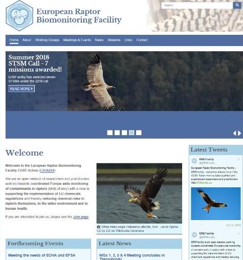 European Raptor Biomonitoring Facility (ERBF)