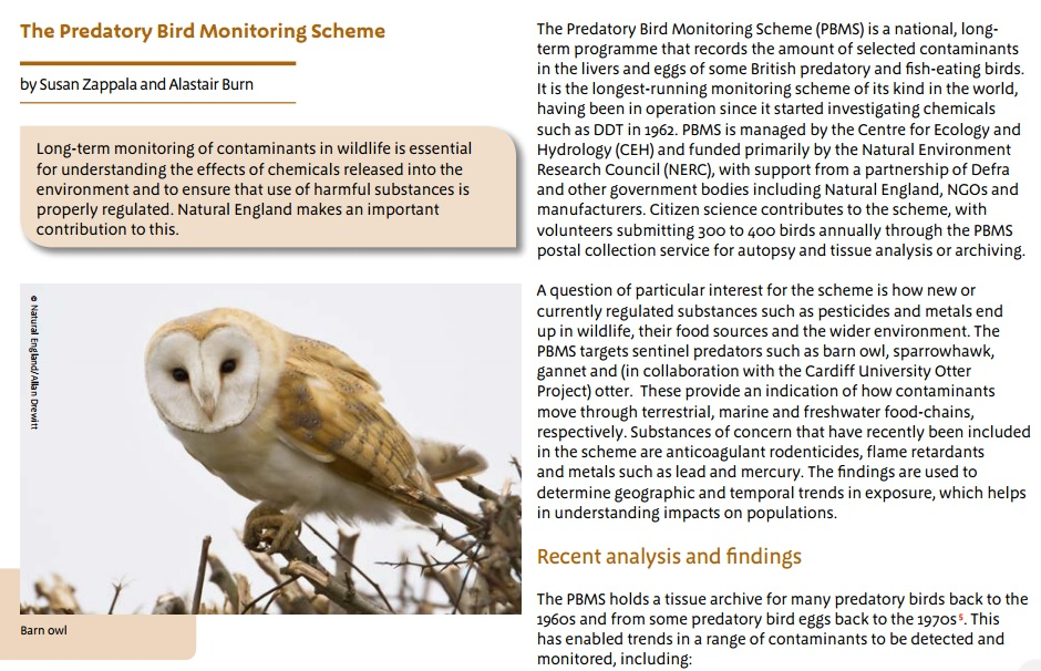 PBMS work highlighted in Natural England Chief Scientist's report