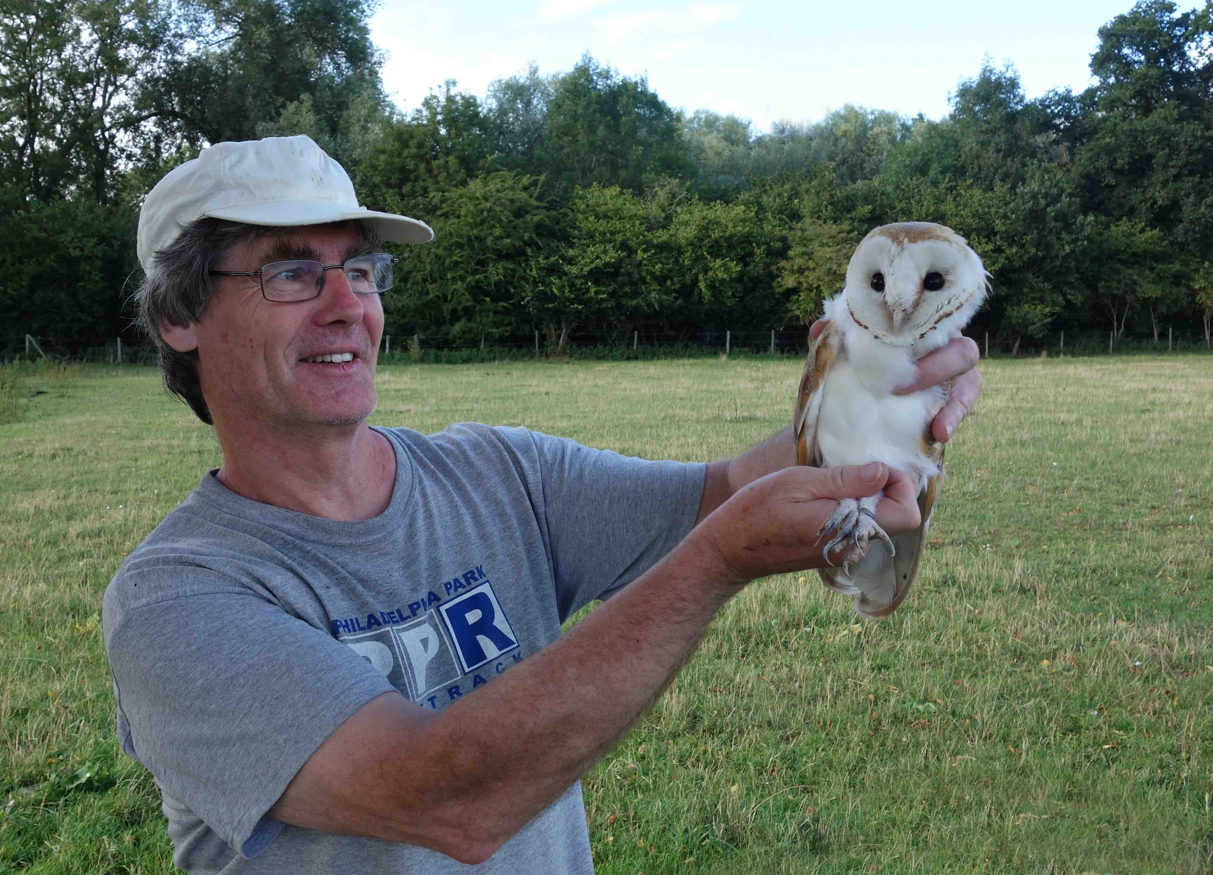 PBMS contributor Paul Warham and Barn Owl