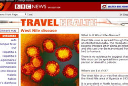 Image of a news story about West Nile virus