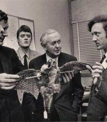 Historical image of Harold Wilson visiting the PBMS in the 1960s